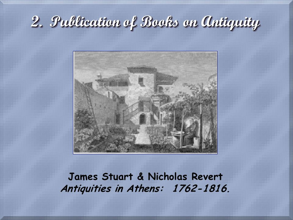 2. Publication of Books on Antiquity
