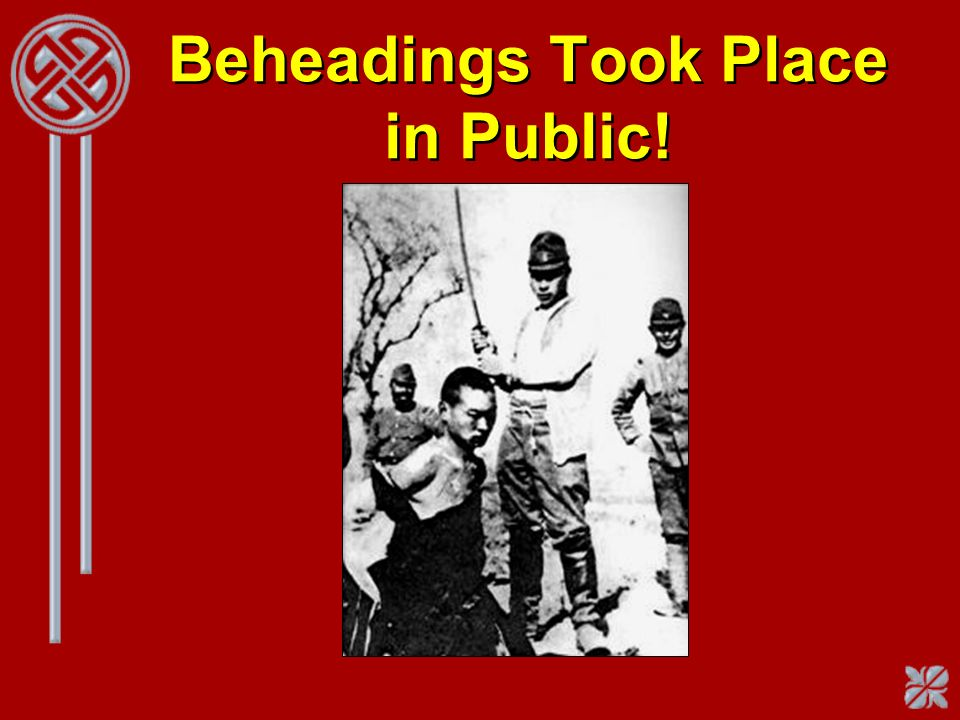 Beheadings Took Place in Public!