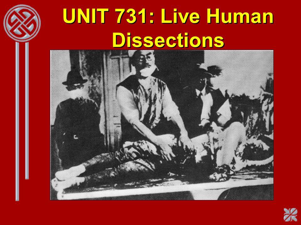 UNIT 731: Live Human Dissections