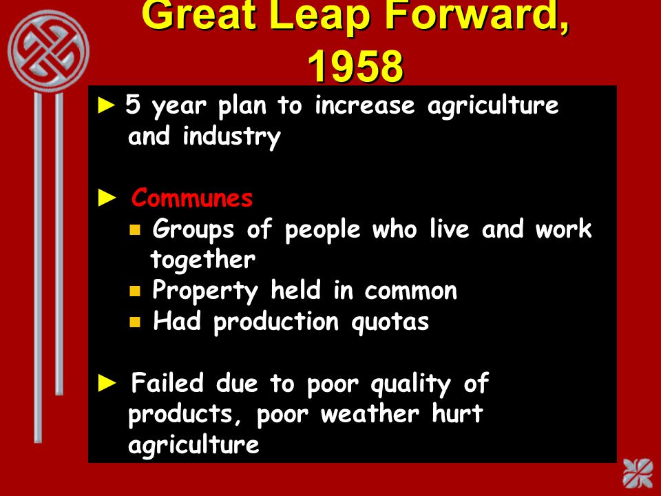 Great Leap Forward, 1958 Communes