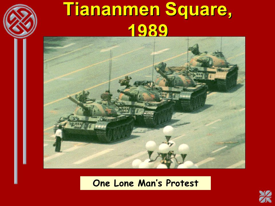 Tiananmen Square, 1989 One Lone Man's Protest