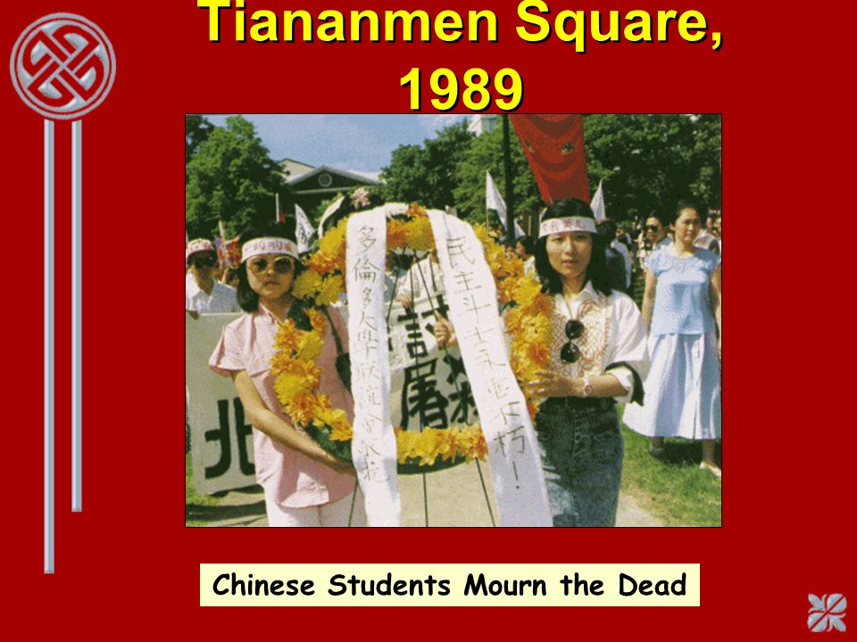 Chinese Students Mourn the Dead
