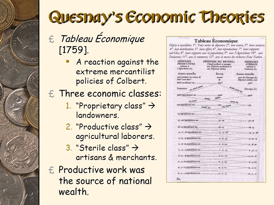Quesnay's Economic Theories