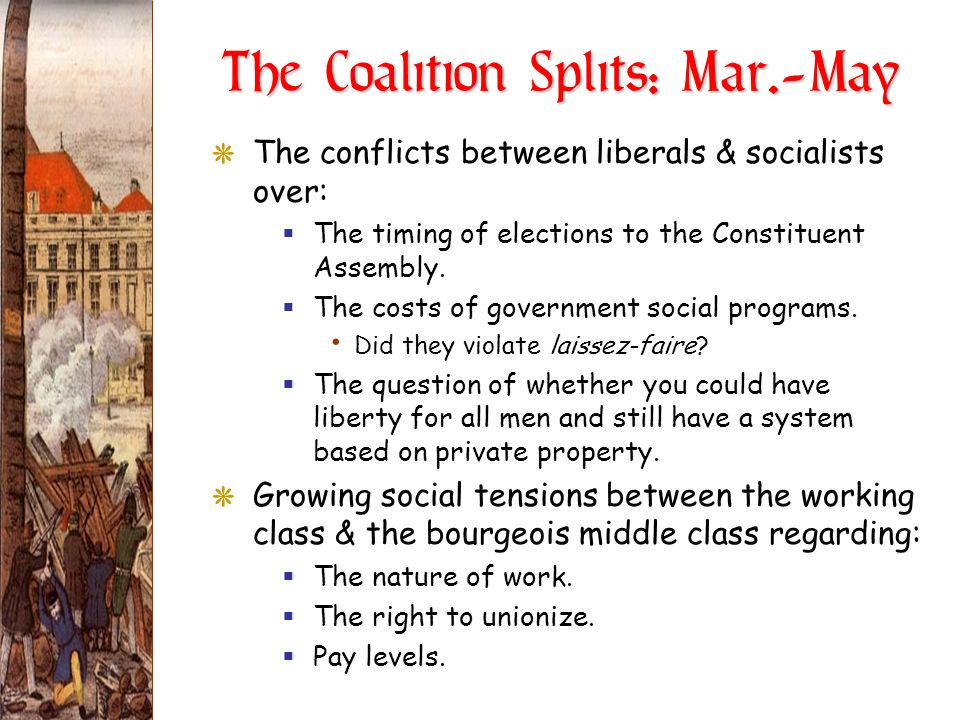 The Coalition Splits: Mar.-May