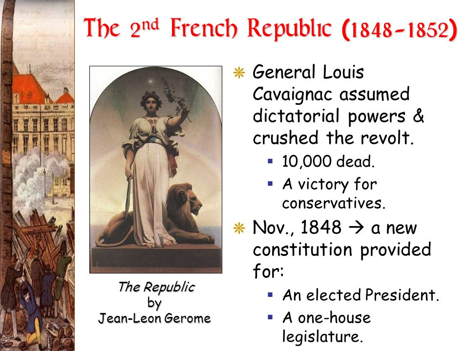 The 2nd French Republic (1848-1852)