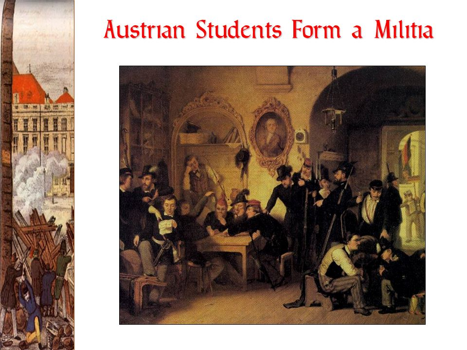 Austrian Students Form a Militia