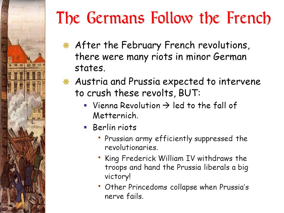 The Germans Follow the French
