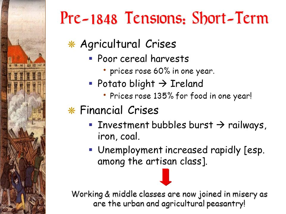 Pre-1848 Tensions: Short-Term
