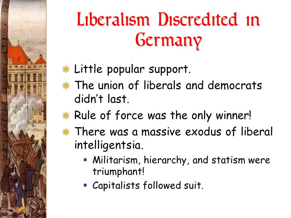 Liberalism Discredited in Germany