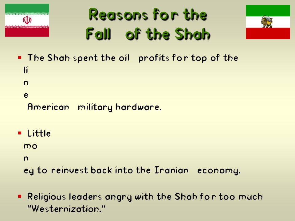 Reasons for the Fall of the Shah