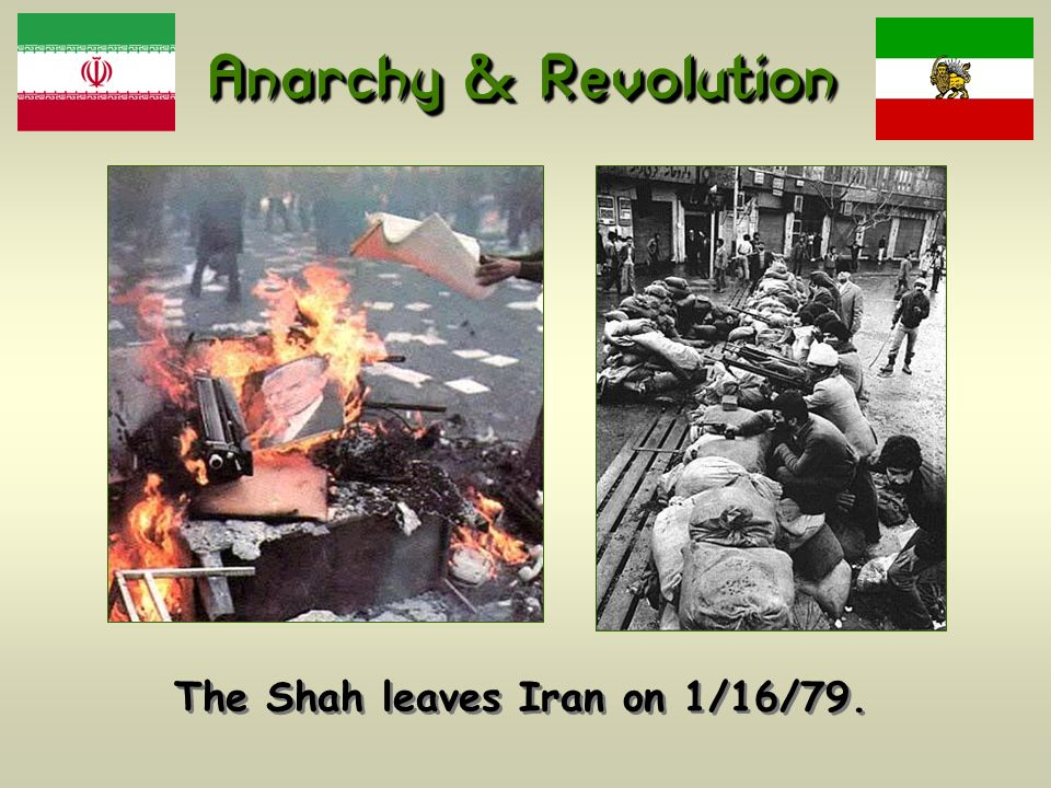 The Shah leaves Iran on 1/16/79.