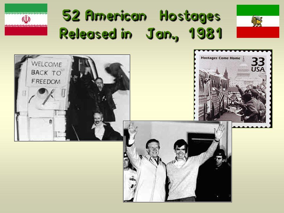 52 American Hostages Released in Jan., 1981