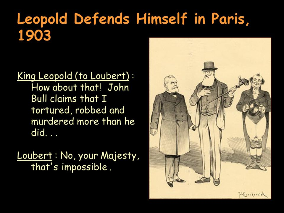 Leopold Defends Himself in Paris, 1903