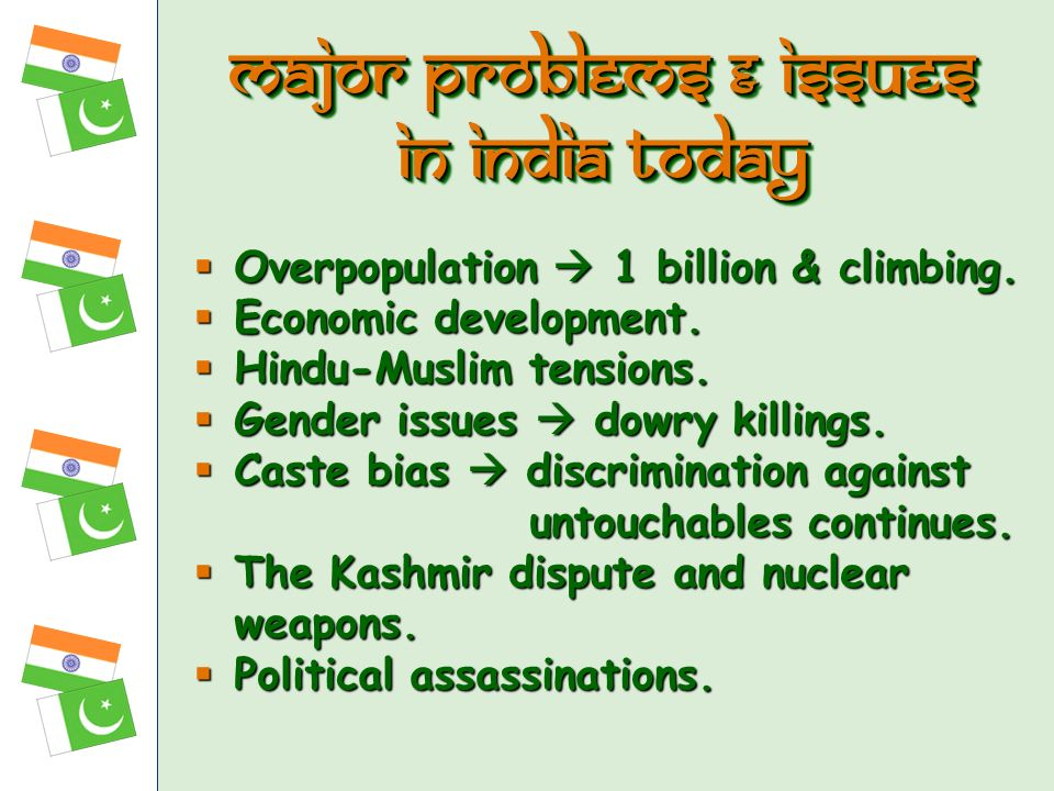 Major problems & Issues in india today
