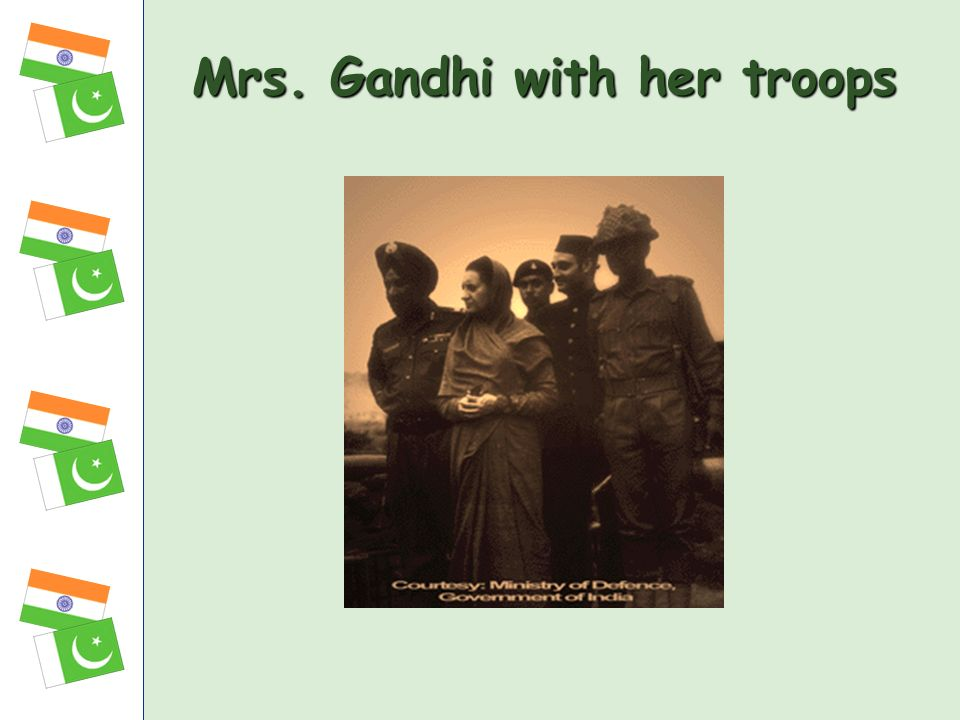 Mrs. Gandhi with her troops
