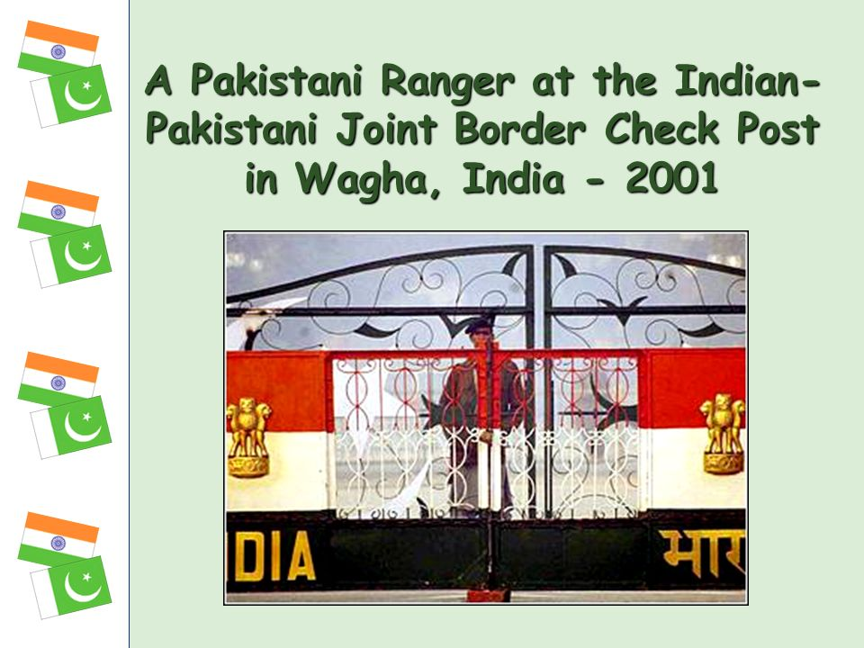 A Pakistani Ranger at the Indian-Pakistani Joint Border Check Post in Wagha, India - 2001