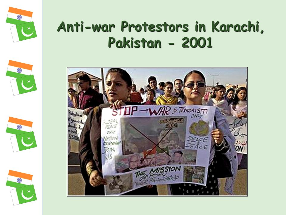 Anti-war Protestors in Karachi, Pakistan - 2001