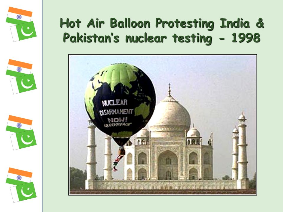 Hot Air Balloon Protesting India & Pakistan's nuclear testing