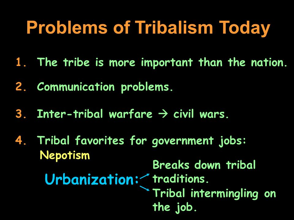 Problems of Tribalism Today