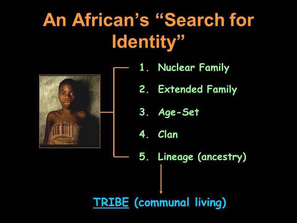 An African's Search for Identity