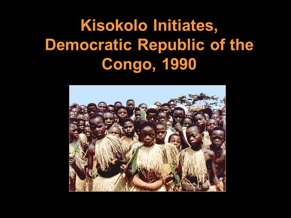Kisokolo Initiates, Democratic Republic of the Congo, 1990