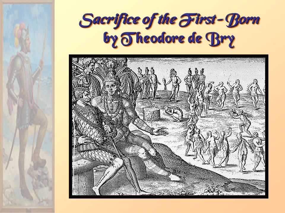 Sacrifice of the First-Born by Theodore de Bry