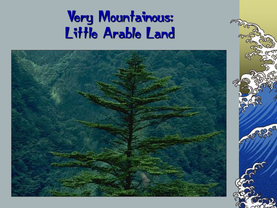Very Mountainous: Little Arable Land