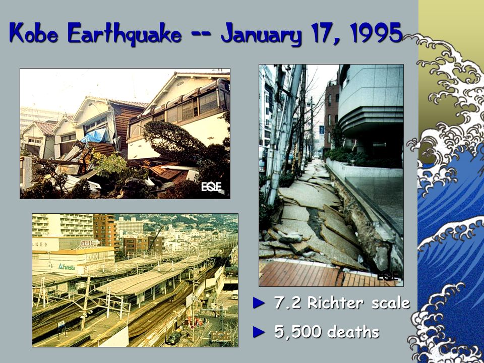 Kobe Earthquake -- January 17, 1995