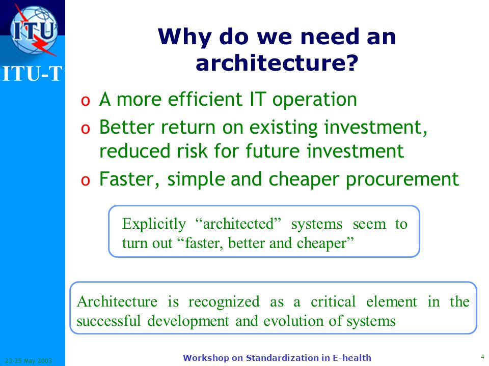 Architectures review for interoperability in e health for Do i need an architect