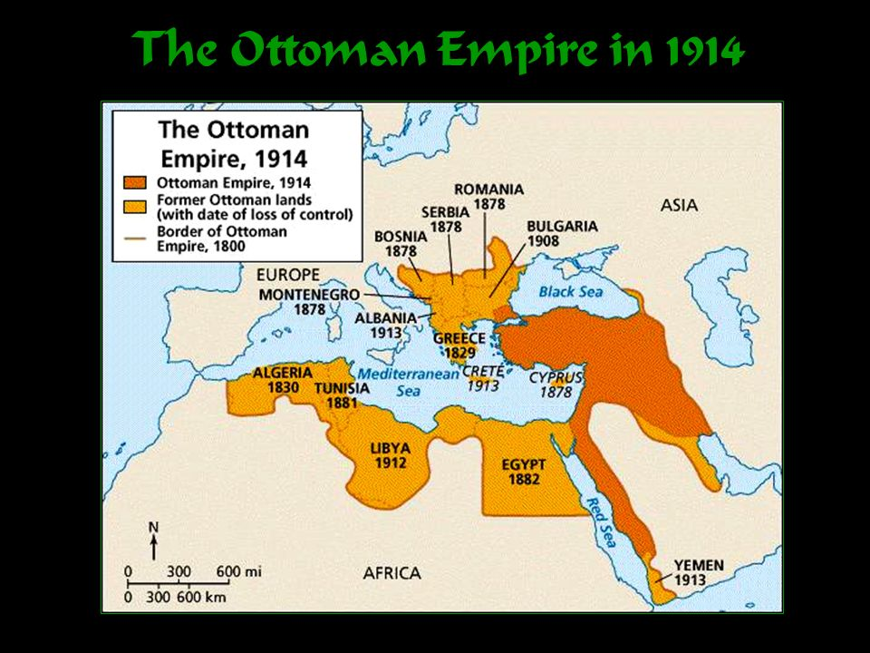 The Ottoman Empire in 1914