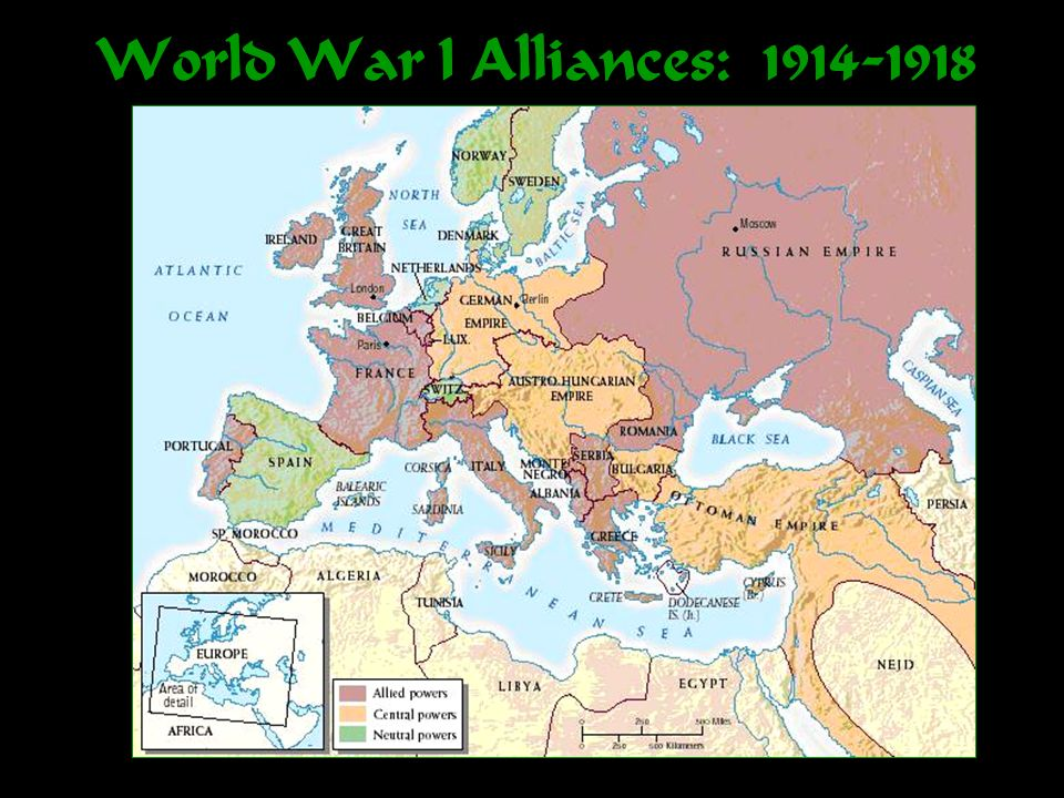 World War I Alliances: 1914-1918