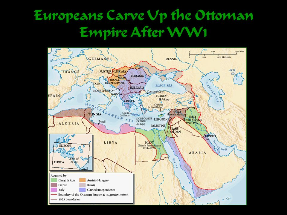 Europeans Carve Up the Ottoman Empire After WW1