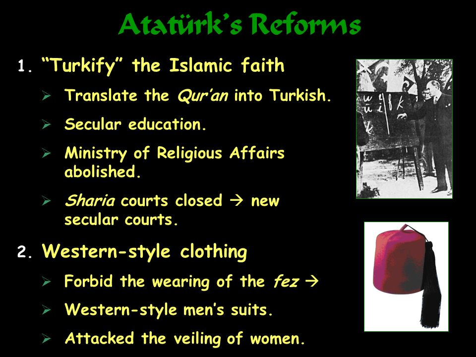 Atatürk's Reforms Turkify the Islamic faith