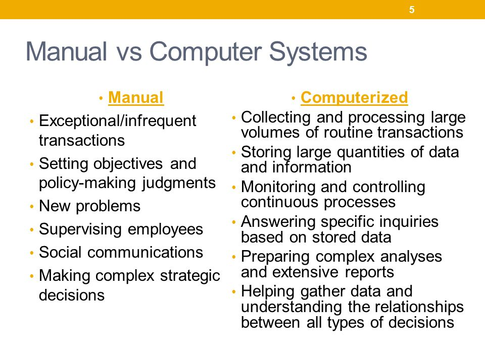 manual system vs computerized system pdf