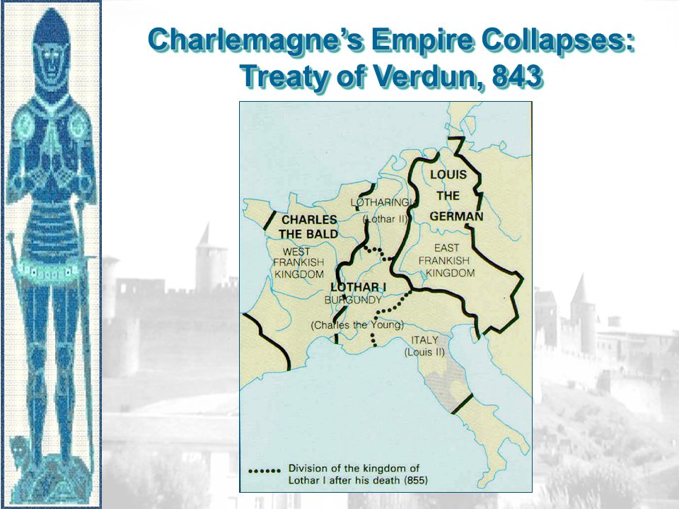 Charlemagne's Empire Collapses: Treaty of Verdun, 843