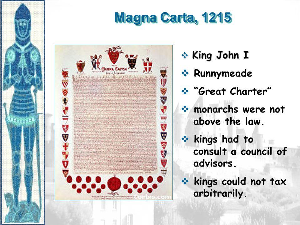 Magna Carta, 1215 Runnymeade Great Charter