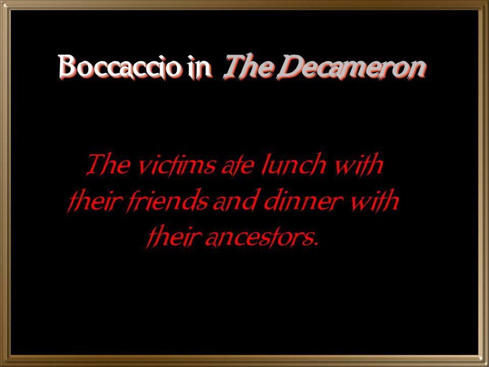 Boccaccio in The Decameron