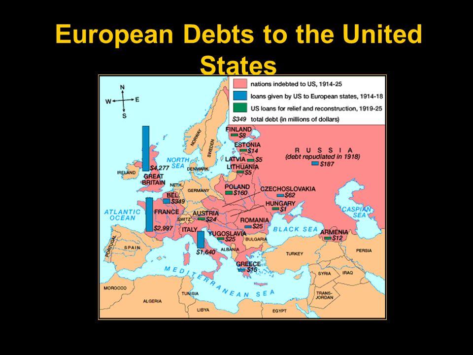 European Debts to the United States