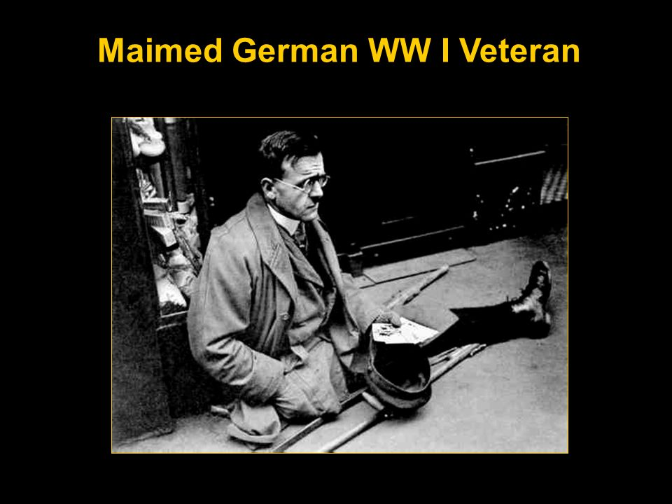 Maimed German WW I Veteran