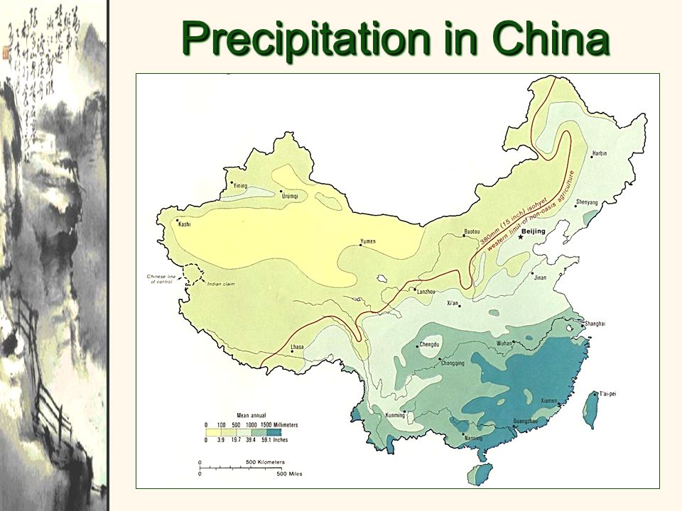 Precipitation in China