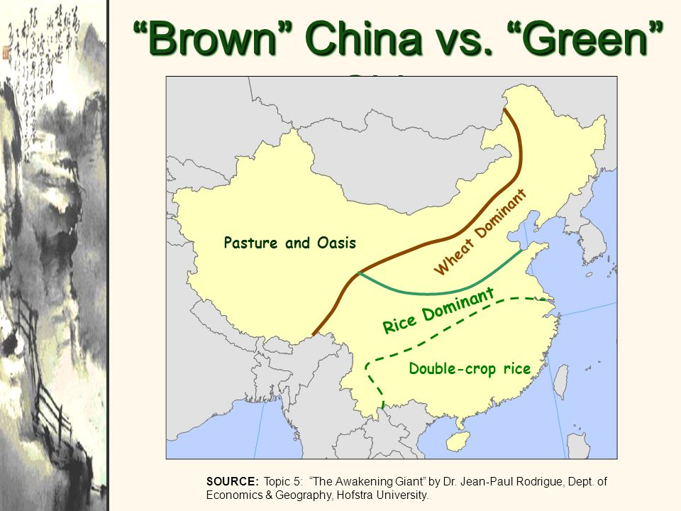 Brown China vs. Green China