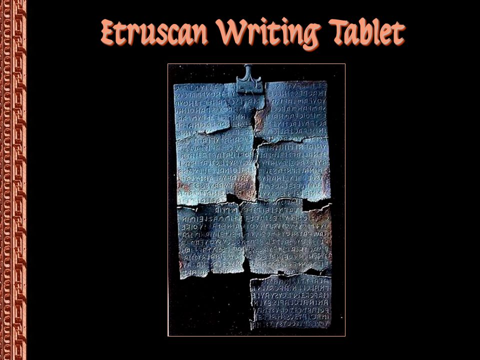 Etruscan Writing Tablet