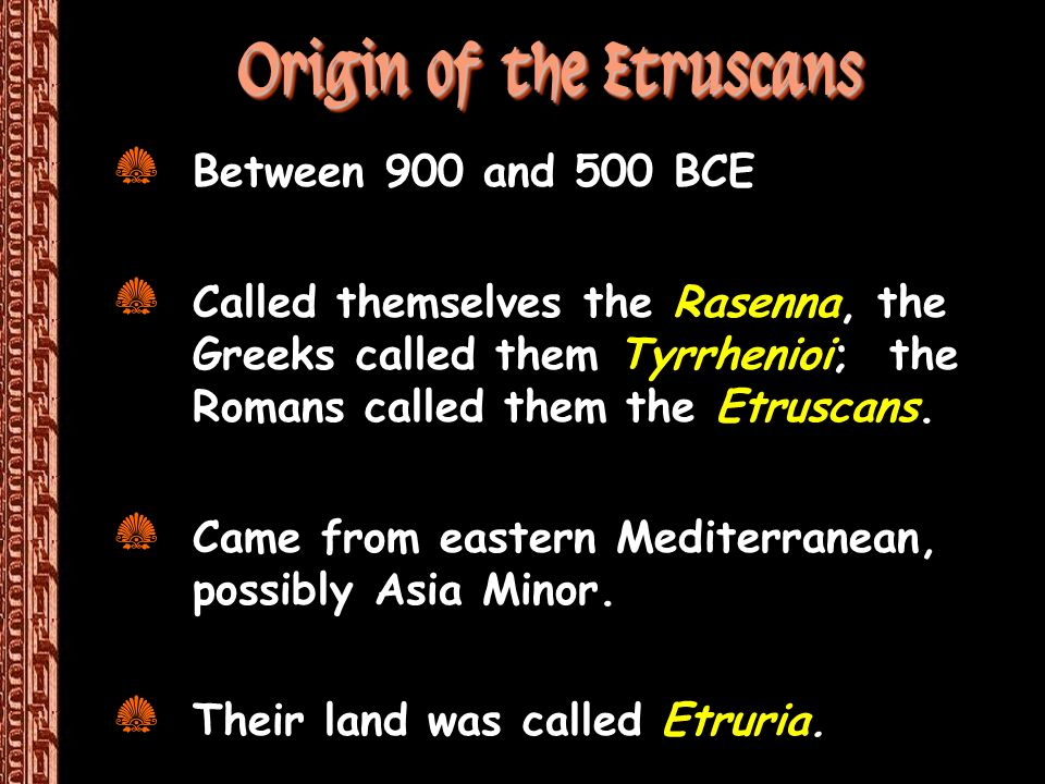 Origin of the Etruscans