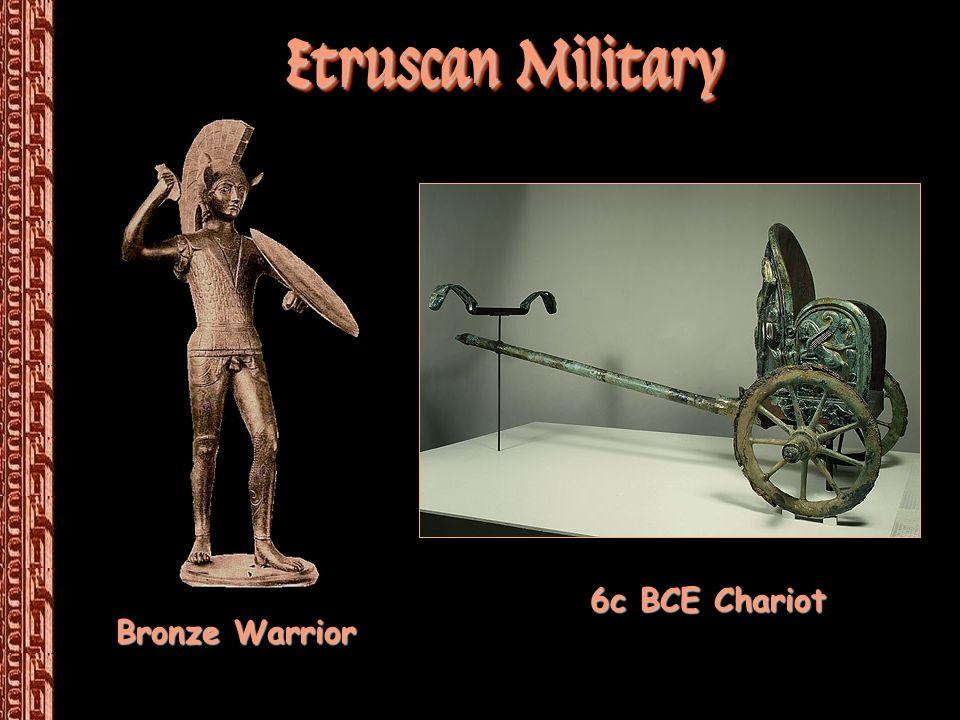 Etruscan Military 6c BCE Chariot Bronze Warrior