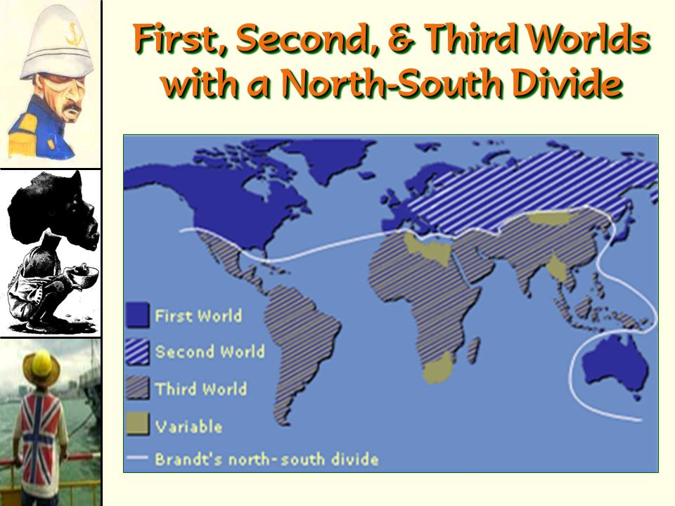 First, Second, & Third Worlds with a North-South Divide