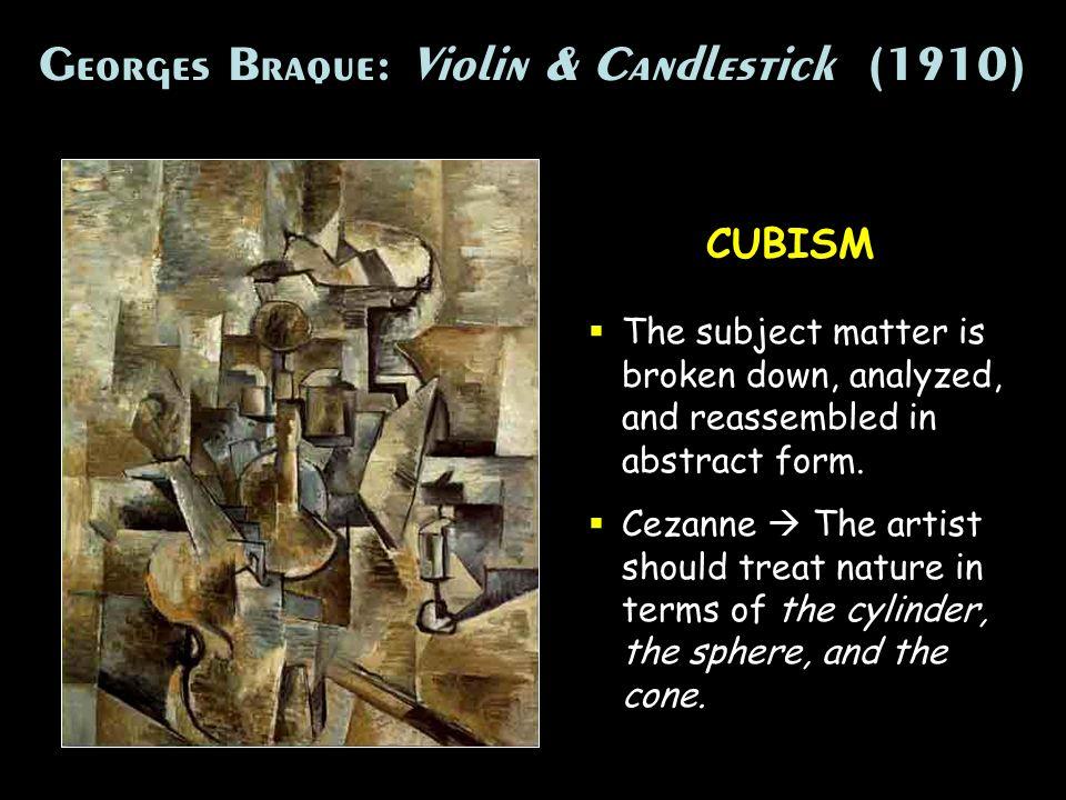 Georges Braque: Violin & Candlestick (1910)