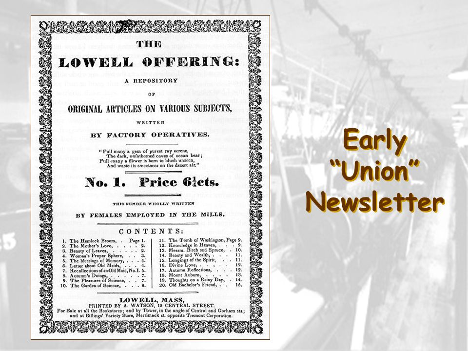 Early Union Newsletter