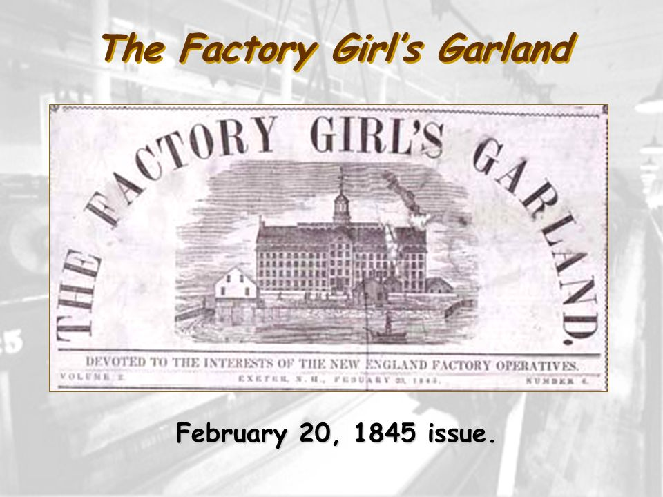 The Factory Girl's Garland