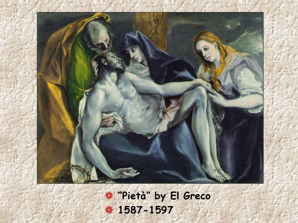 Pietà by El Greco 1587-1597