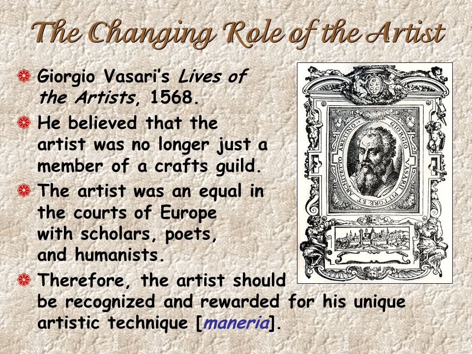 The Changing Role of the Artist